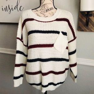 POL striped sweater